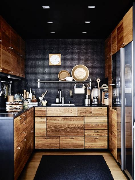 12 Playful Dark Kitchen Designs Ideas Pictures Black Kitchen Design
