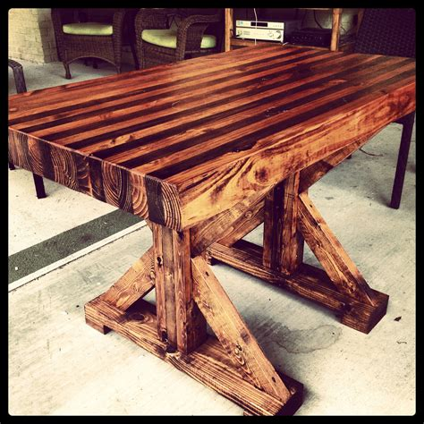 butcher block table i made home