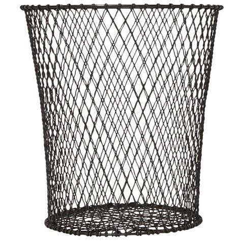 waste paper baslet woven wire waste paper basket for sale at 1stdibs