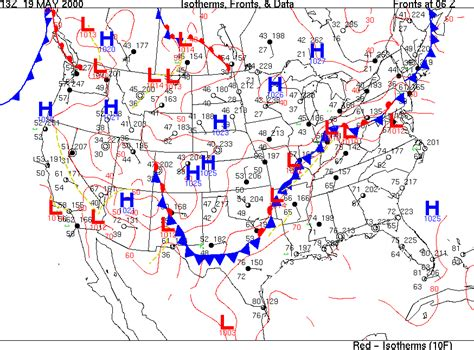 us weather map high and low pressure geography