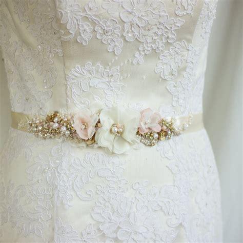blush wedding belt sash bridal belt chagne bridal
