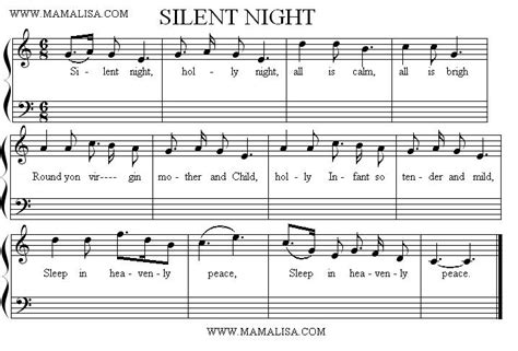 printable sheet music silent night silent night sheet music page 1986 1 1png pictures