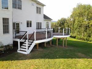 Chandeliers New Jersey Trex Deck With Vintage Lantern Amp White Rail With Black