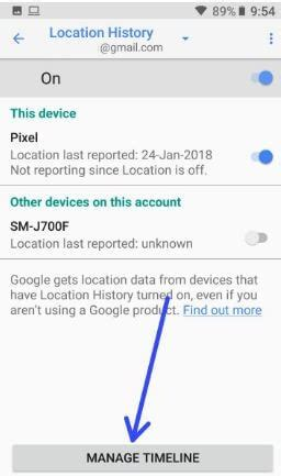 android device location history how to delete location history android oreo