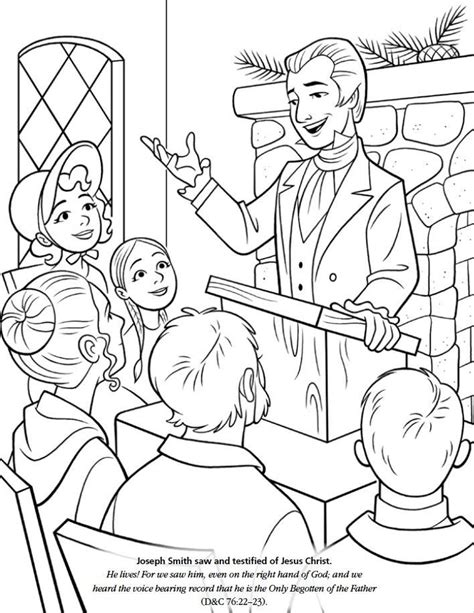 lds coloring pages joseph smith joseph smith coloring page az coloring pages