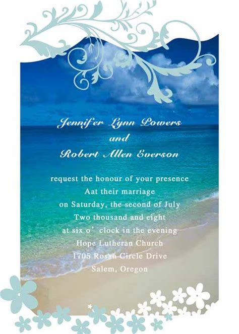 cheap aqua wedding invitations modern seaside summer wedding invitations ewi038 as