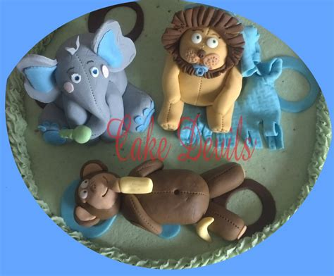 Handmade Edible Cake Toppers - fondant elephant elephant cake topper elephant cake