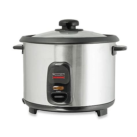 Rice Cooker Stainless Steel Sanken professional series 6 cup stainless steel rice cooker bed bath beyond