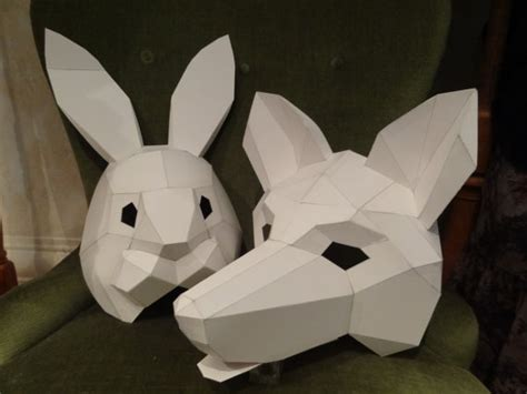 How To Make Scary Masks Out Of Paper - diy masks animal masks how to make fox mask