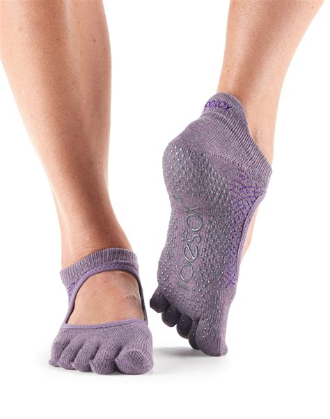 pilates slippers toesox toe bellarina non slip grip workout
