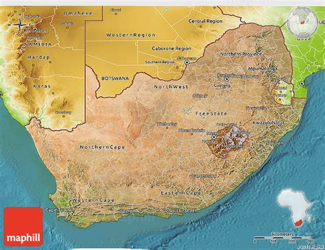south africa physical map satellite 3d map of south africa physical outside