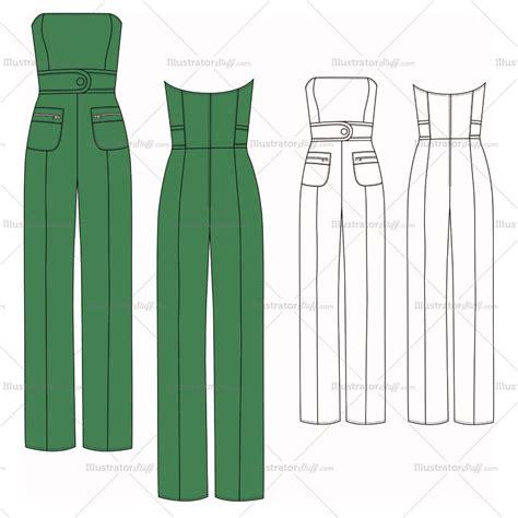 jumpsuit template s strapless jumpsuit fashion flat template fashion
