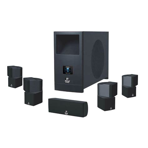 pyle 5 1 home theater system with active subwoofer and