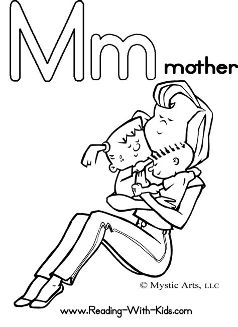 alphabet coloring pages m spikindergarten licensed for non commercial use only