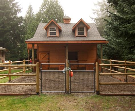 2 horse barn with feed room cheap plans single stall back yard barn with 2 gables very cute only i would
