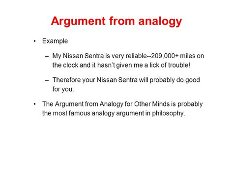 exle of analogy conditionals and arguments ppt