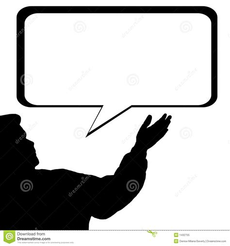Man Silhouette Speech Bubble Royalty Free Stock Photo