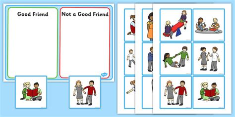 card sort template 4x2 friend discussion and sorting cards friends