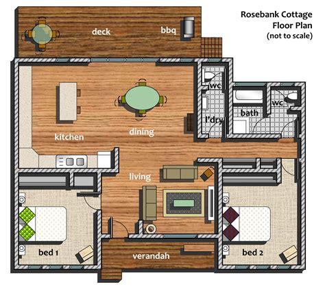 Small Log Cabin Floor Plans And Pictures Cottage Floorplan Rosebank B Amp B
