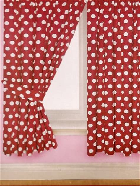 red polka dot kitchen curtains fancy home decor trend polka dots