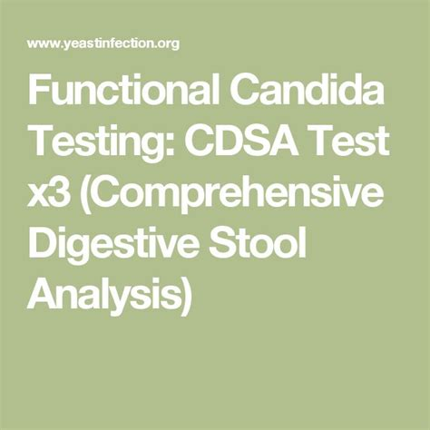 Comprehensive Stool Test For Candida by Best 25 Candida Test Ideas On Candida Spit