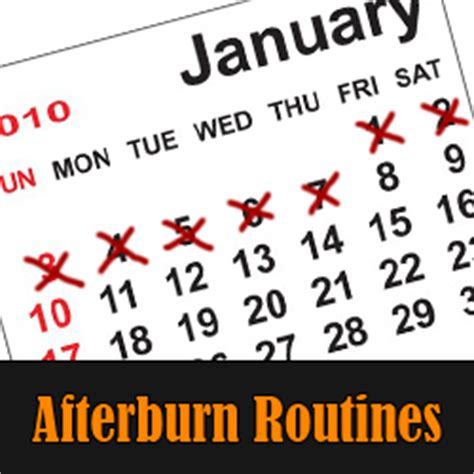 afterburn workout routine free eoua