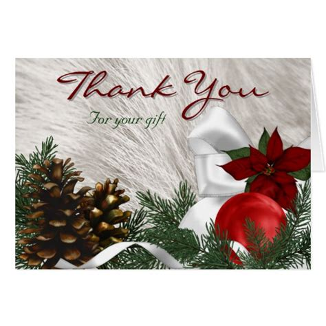 holiday gift thank you cards zazzle