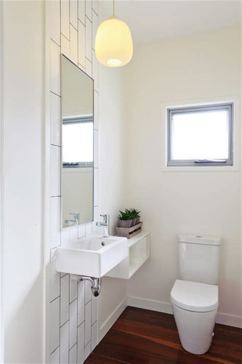 narrow powder room powder room contemporary powder room brisbane by