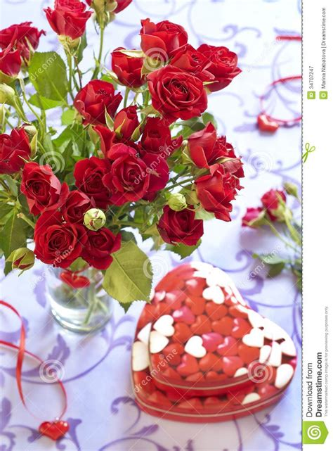 Gorgeous Valentines Gifts by Roses And Gifts In Day Royalty Free Stock