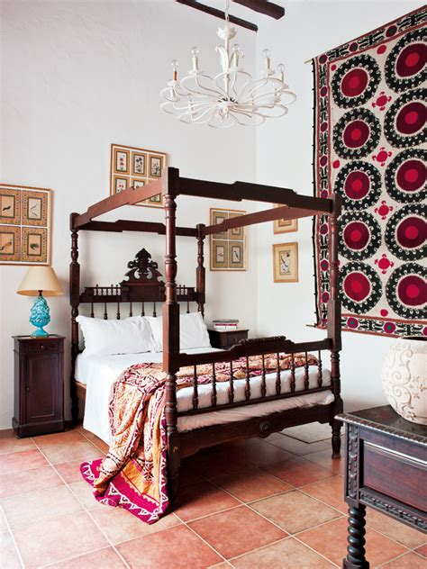 spanish bedroom spanish ethnic mix interiors by color