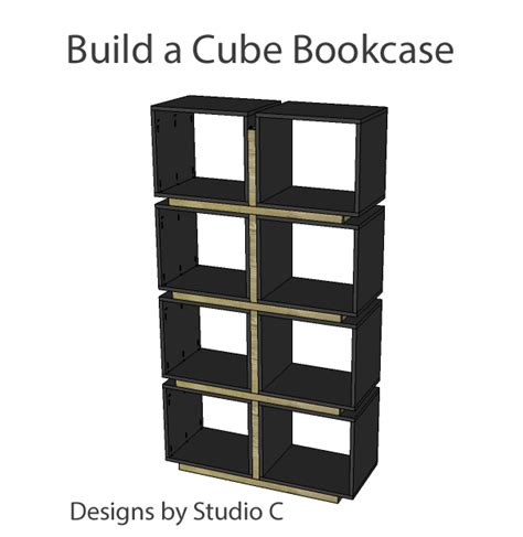 fabulously easy to build bookcases designs by studio c