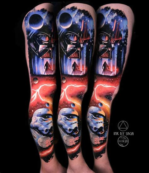 best star wars tattoos wars leg best design ideas