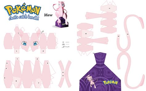 Mew Papercraft - papercraft mewtwo images images