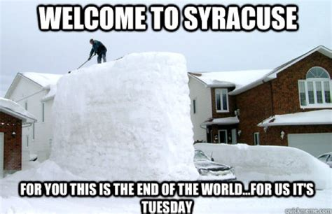 Syracuse Meme - funniest snow memes ever