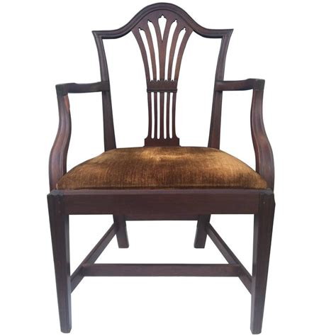 english armchair english mahogany hepplewhite armchair 1780 for sale at
