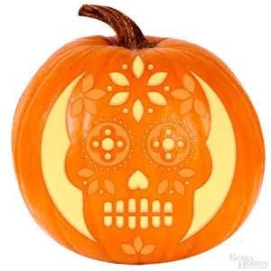 dia de los muertos pumpkin template sugar skull pumpkin stencil