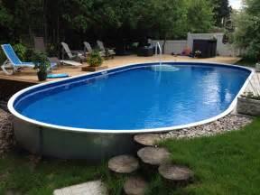 semi above ground swimming pools prices