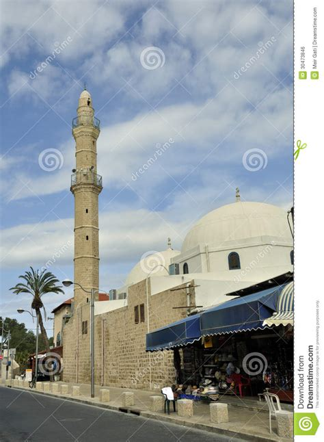 ottoman governor the mahmudiyeh mosque jaffa israel editorial photo