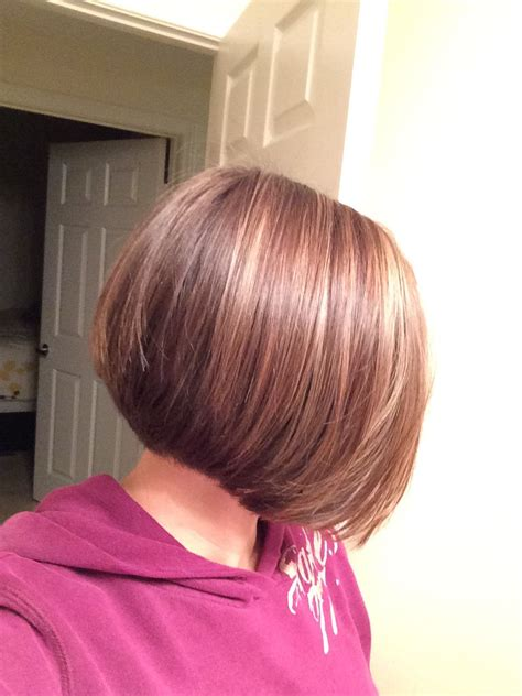 photos of a line bob hairstyles beautiful deep chocolate brown hair color stacked a line