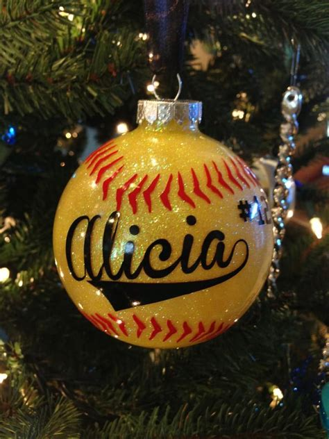 baseball christmas ornament vinyl vinyl pinterest