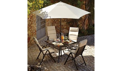 reclining garden chairs asda haversham 6 piece recliner patio set linen garden