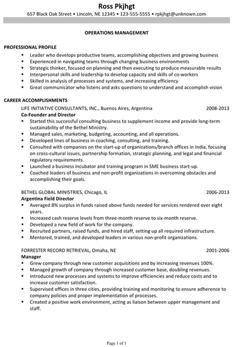 Resume Employment History Sample by