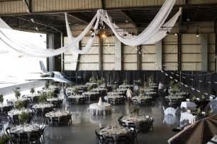 aviation themed events sophia bradley airplane hanger wedding themed