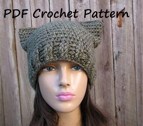 cat hat crochet pattern crochet pattern cat hat slouchy hat crochet pattern