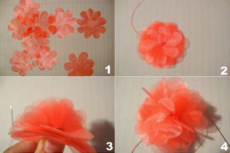 tutorial making organza flowers a field of daisies a personal style blog diy flower