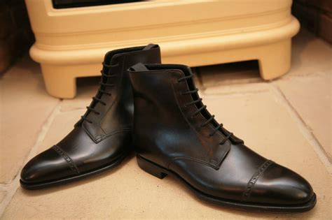 oxford shoes boots handmade mens oxford dress boot black lace up ankle