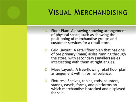 store layout design and visual merchandising powerpoint ppt advanced fashion standard 9 visual merchandising