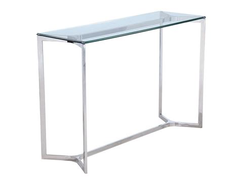 stainless steel console table stainless steel and glass console table minimal metal