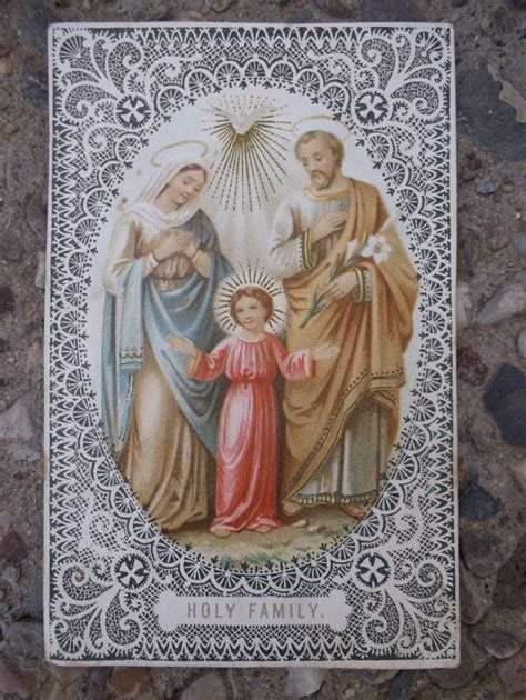 holy family cards 208 best lace paper holy cards images on blood