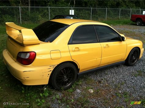 2003 Sonic Yellow Subaru Impreza Wrx Sedan 53980826 Photo